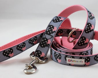 Pet Leash Dotted Hearts