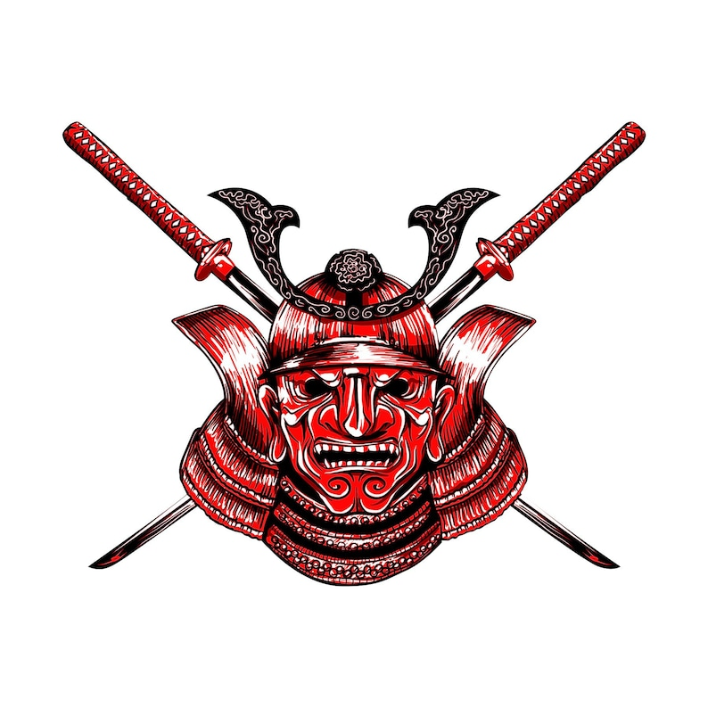 4f1273c0d0e Samurai mask vinyl decal full color samurai decal sticker