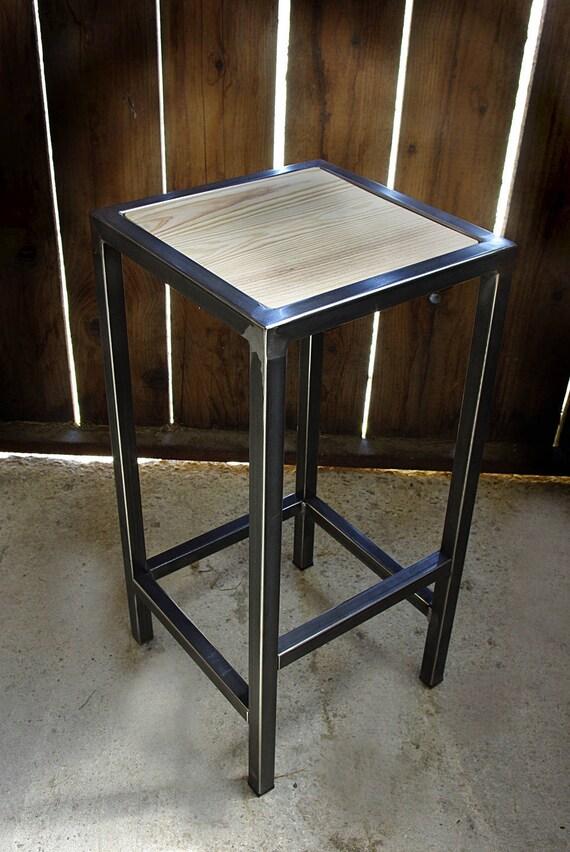 Tabouret Industriel Chaise Bar Fer Bois Industrielle Etsy