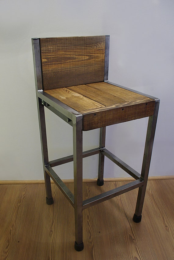 Brilliant Industrial Bar Stool Iron And Wood Caraccident5 Cool Chair Designs And Ideas Caraccident5Info