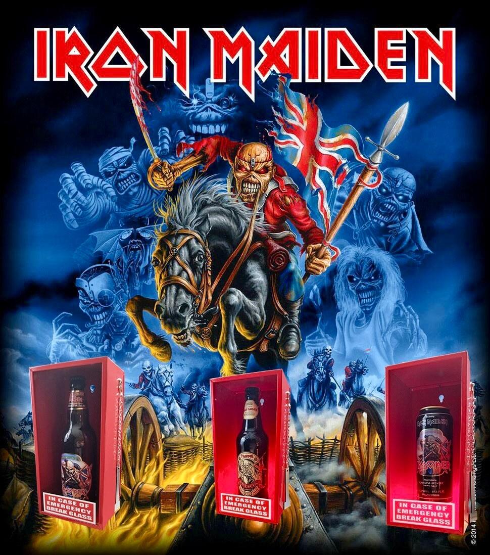 Iron Maiden Trooper beer in case of emergency break glass