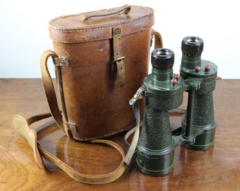 Binoculars & Telescopes Cameras & Photo Rare 1944 Ww2 Era Swiss Military Army Leather Binocular Case Lens Filters Lid