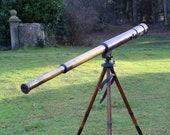 WW1 Field Artillery Telescope and Tripod 1916 British Spotting Telescope