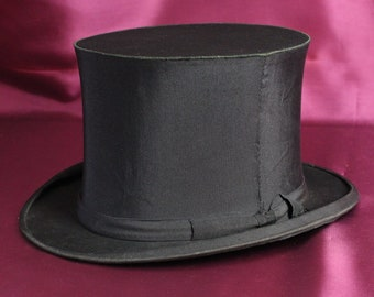 2d21e5235e529f Vintage collapsible Opera Top Hat size 7 approx 57 cm in circumference