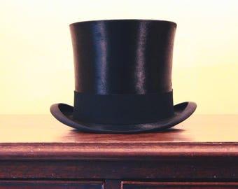 d3e5c9ea276 Edwardian Antique Silk Top Hat by Walter Barnard of Jermyn Street
