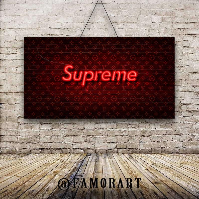 0907ab45d0a POSTER  Supreme X LV Neon Art Vlone Palace Adidas
