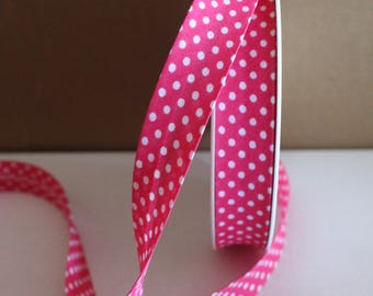 20 mm fancy dot pink with pattern for sewing