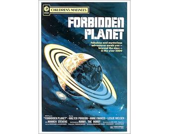Forbidden Planet Movie Poster Print - 1956 - Science-Fiction - 1 Sheet Artwork