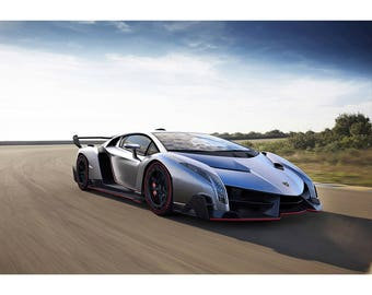 2014 Lamborghini Veneno Roadster   Sports Car Photo Print   Sports Car  Poster   Car Print