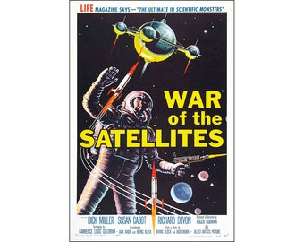 War Of The Satellites Movie Poster Print - 1958 - Sci-Fi - 1 Sheet Artwork