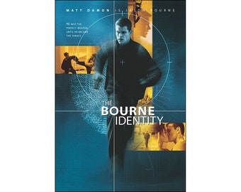 The Bourne Identity Movie Poster Print - 2002 - Action - 1 Sheet Artwork