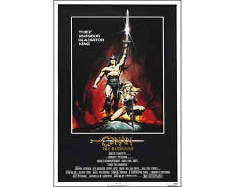 Conan The Barbarian Movie Poster Print - 1982 - Action - 1 Sheet Artwork