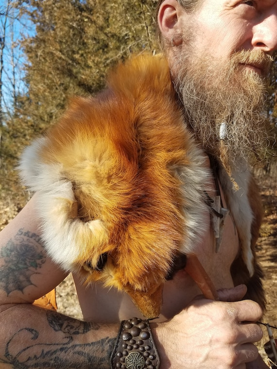 Viking Renaissance Mantle Red Fox