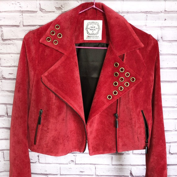 Biker Mantel Bikerjacke Samt WindbreakerRote Style JackeKurze Kleidung BlazerStreet Damen Mit ReißverschlussFrauen FulKJ3T1c