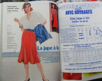Super boss skirt-les - PRIMA 56 May 1987 - 34 to 42 T - Vintage