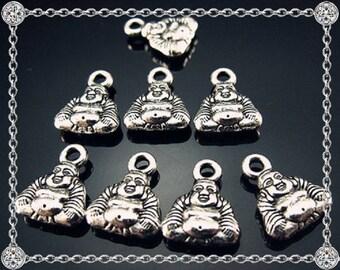 5 charms pendants Buddha sitting charm - 12mm