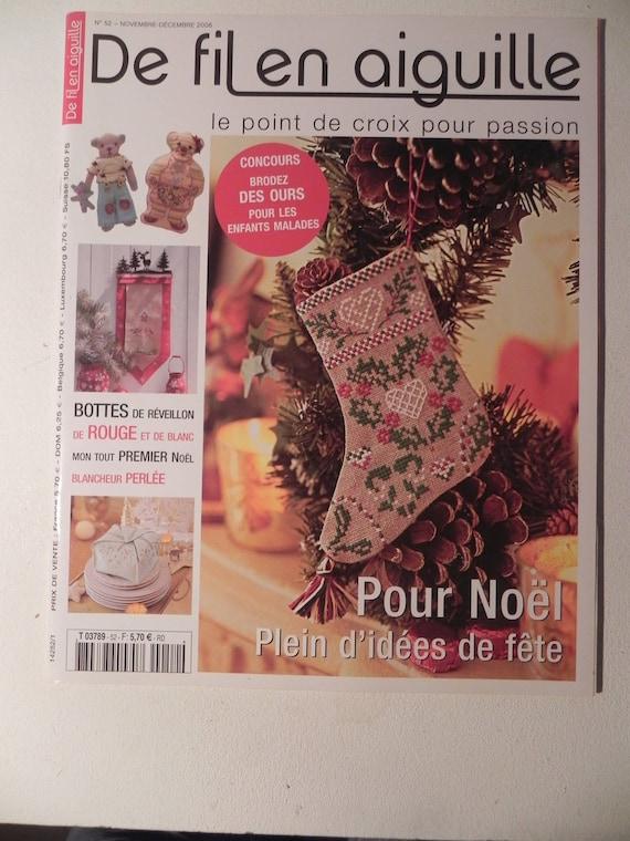 Magazine De Noël De Fil En Aiguillepoint De Croix N 52