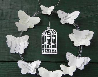 Light weight Crown of white butterflies