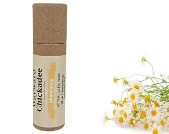 CHAMOMILE Lip Balm   All Natural, Handcrafted Lip Balm   Beeswax, Cocoa Butter   ECO Tube
