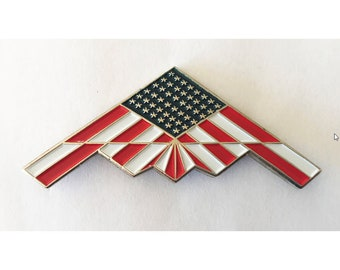 B-2 Bomber Flag Pins With Magnetic Backs