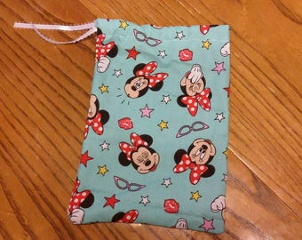 Minnie Mouse reusable gift bag/ dice bag/ travel bag