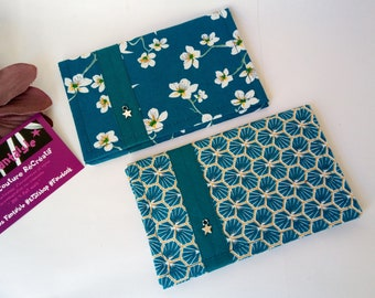 Case vehicle papers, grey card storage, original woman gift, fancy fabric, duck blue
