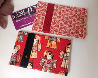 Case vehicle papers, grey card pouch, licensed case, original gift, autumn collection, red