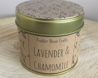 Lavender & Chamomile | Gold tin candle