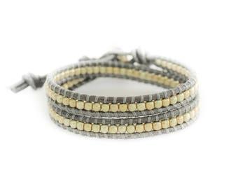 Golden Mist 2 Wrap Bracelet
