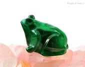 Malachite Frog Figurine - Feng Shui Home Decor