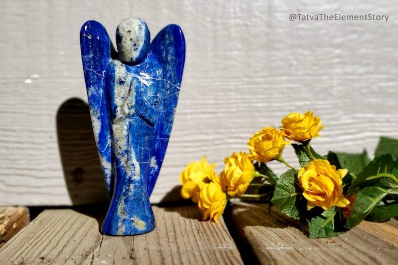 Blue Lapis Lazuli Guardian Angel Figurine