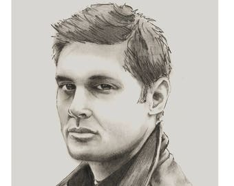 Dean Winchester Pencil Portrait