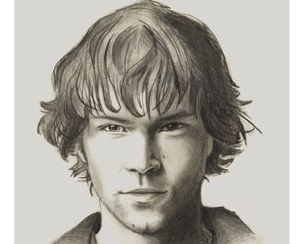 Sam Winchester Pencil Portrait