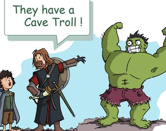 They have a cave troll Illustration