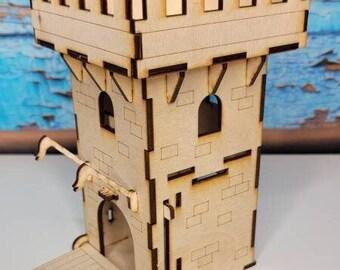 Castle Main Gate - Miniature Castle - RPG Accessories - Terrain and Diorama - RPG Scene - Dice Game