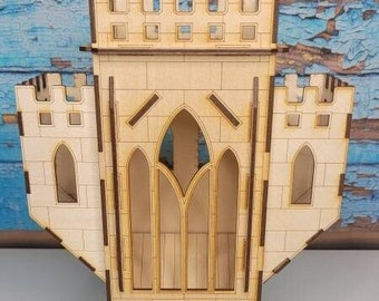 RPG Castle Dice Box - Dice Game Miniatures - Dice Tower - DND Accessories - Castle Hall
