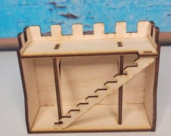 Castle Wall Short - Miniature Castle - DND Accessories - Terrain and Diorama