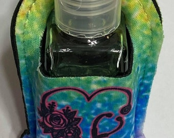 Personalized 30ml Hand Sanitizer Holder - Refillable Bottle - Hand Sanitizer Keyring - Carabiner Clip