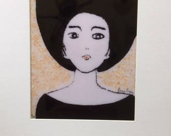 Young Girl in Black Hat