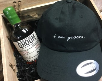 e594c4cf208b7 Embroidered  i am groom  dad hat