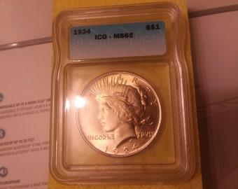 1924 Silver Eagle, M.S.65