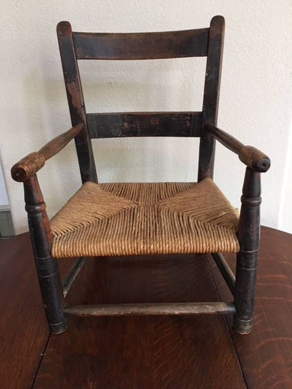 image 0 - Child's Antique Ladderback Chair New England Circa 1820 Etsy