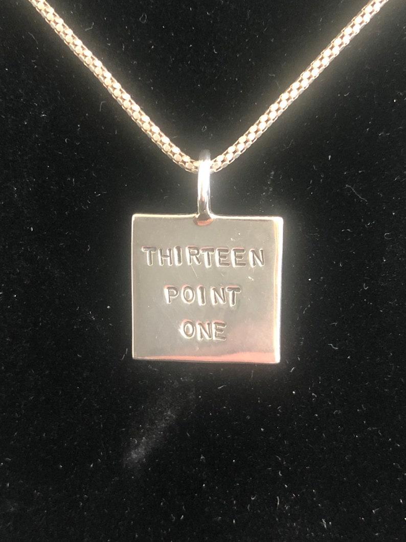 24 Chain Sterling Silver  Thirteen Point One Necklace for the Half Marathon Runner