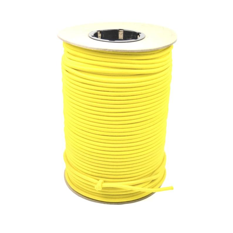 500ft Spool 14 Yellow Bungee Cord Marine Grade Heavy Duty Shock Rope Bungee-14-500ftSpool-Yellow