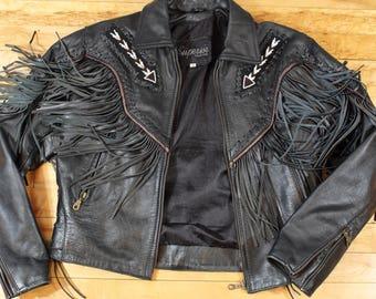12132cc41 Fringe jacket | Etsy