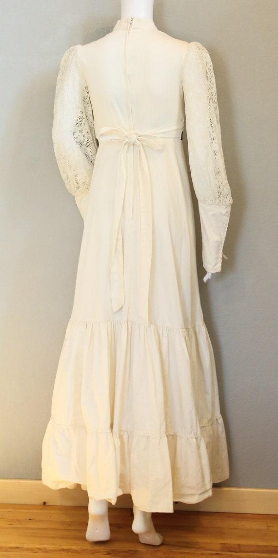 70s PRAIRIE DRESS/velvet, boho maxi dress, hippie… - image 2