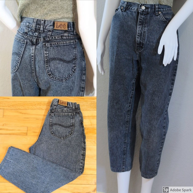 c7a1f08f Vintage Lee Jeans/Waist 29/ high waisted tapered leg petite | Etsy
