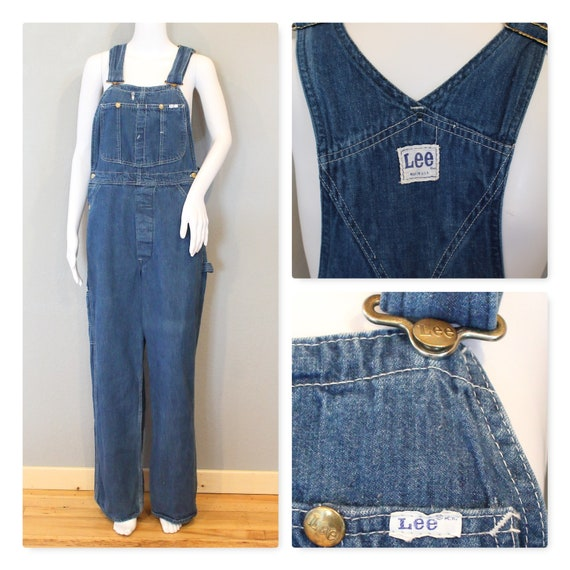 Lee Union Made Overalls/Lee Jeans 1970s denim over