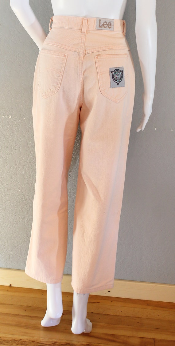 Vintage Lee Jeans/waist 26 inches/Pink Pleated Jea