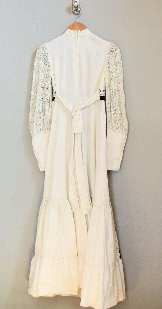 70s PRAIRIE DRESS/velvet, boho maxi dress, hippie… - image 8